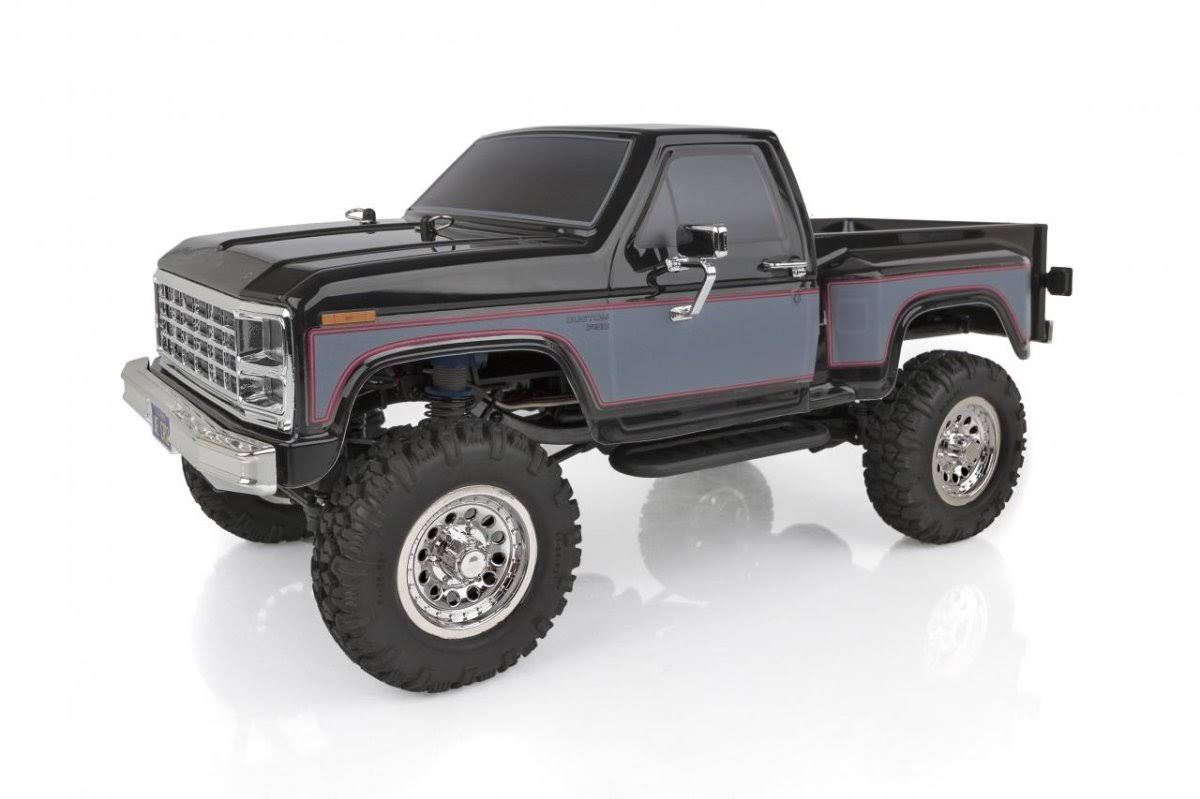 Team Associated CR12 Ford F-150 Pick-up Model Kit - 4WD Brushed RTR, Black