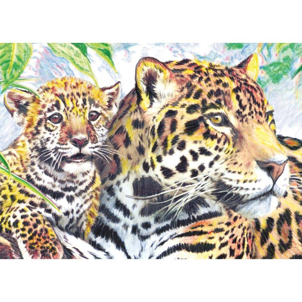 "Royal and Langnickel Mini Color Pencil by Number Kit - Jaguar, 5"" x 7"""