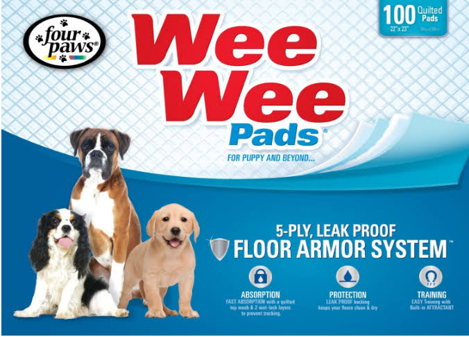 "Four Paws Wee-Wee Puppy Pads - 22"" x 23"", 10pcs"