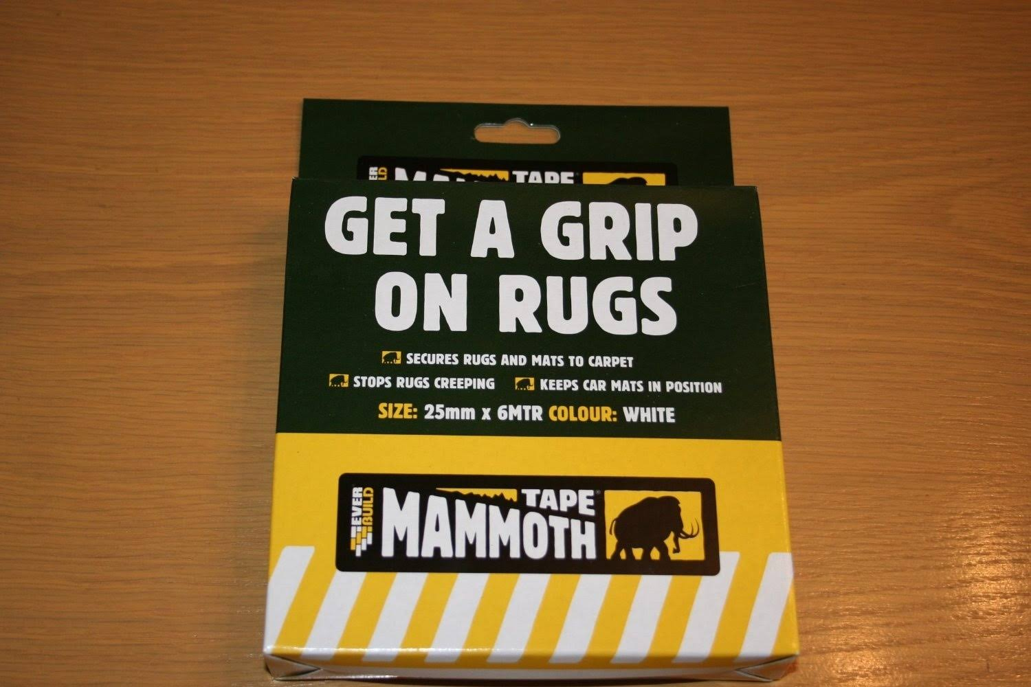 Everbuild Mammoth Tape Get A Grip On Rugs - 25mm x 6m