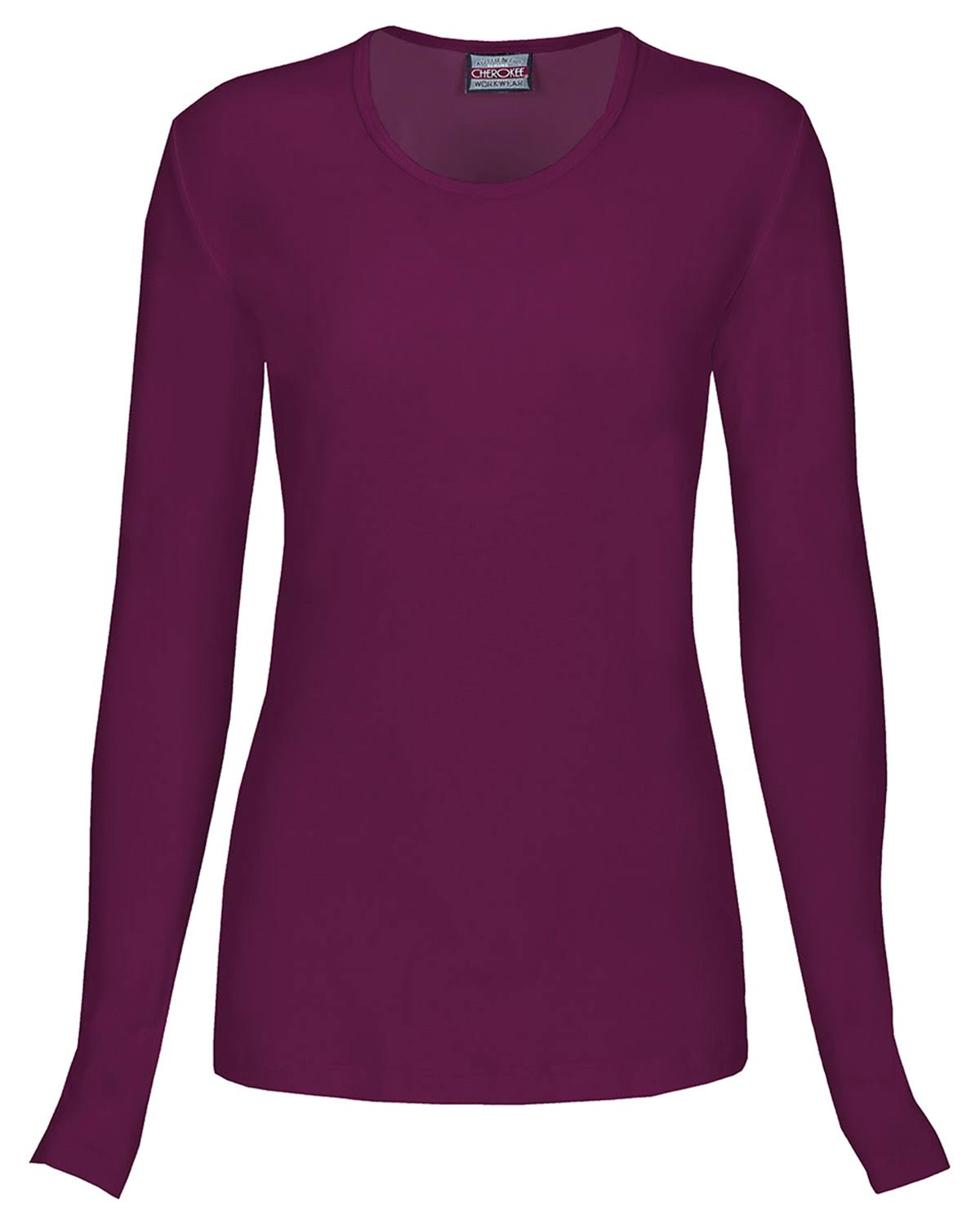 Cherokee Women's Long Sleeve Knit Tee - Wine, Small