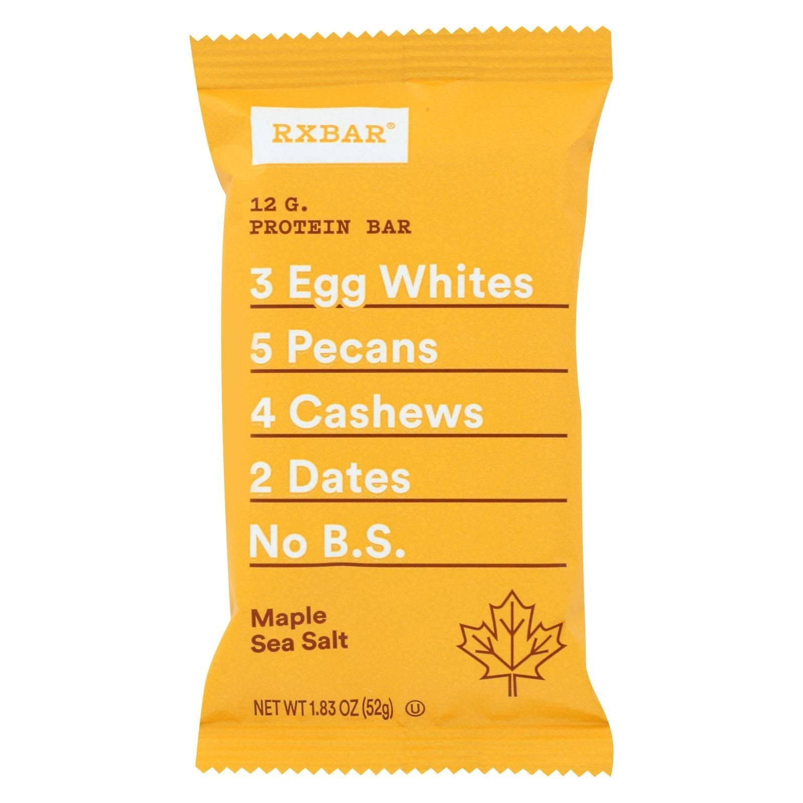 Rxbar Real Food Protein Bar - Maple Sea Salt, 12pcs
