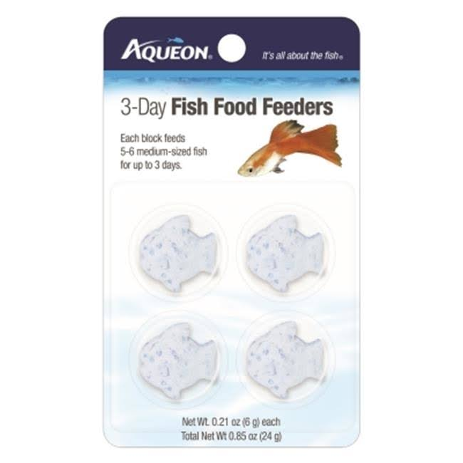 Aqueon Food 3 Day Fish Feeder - 4 Pack