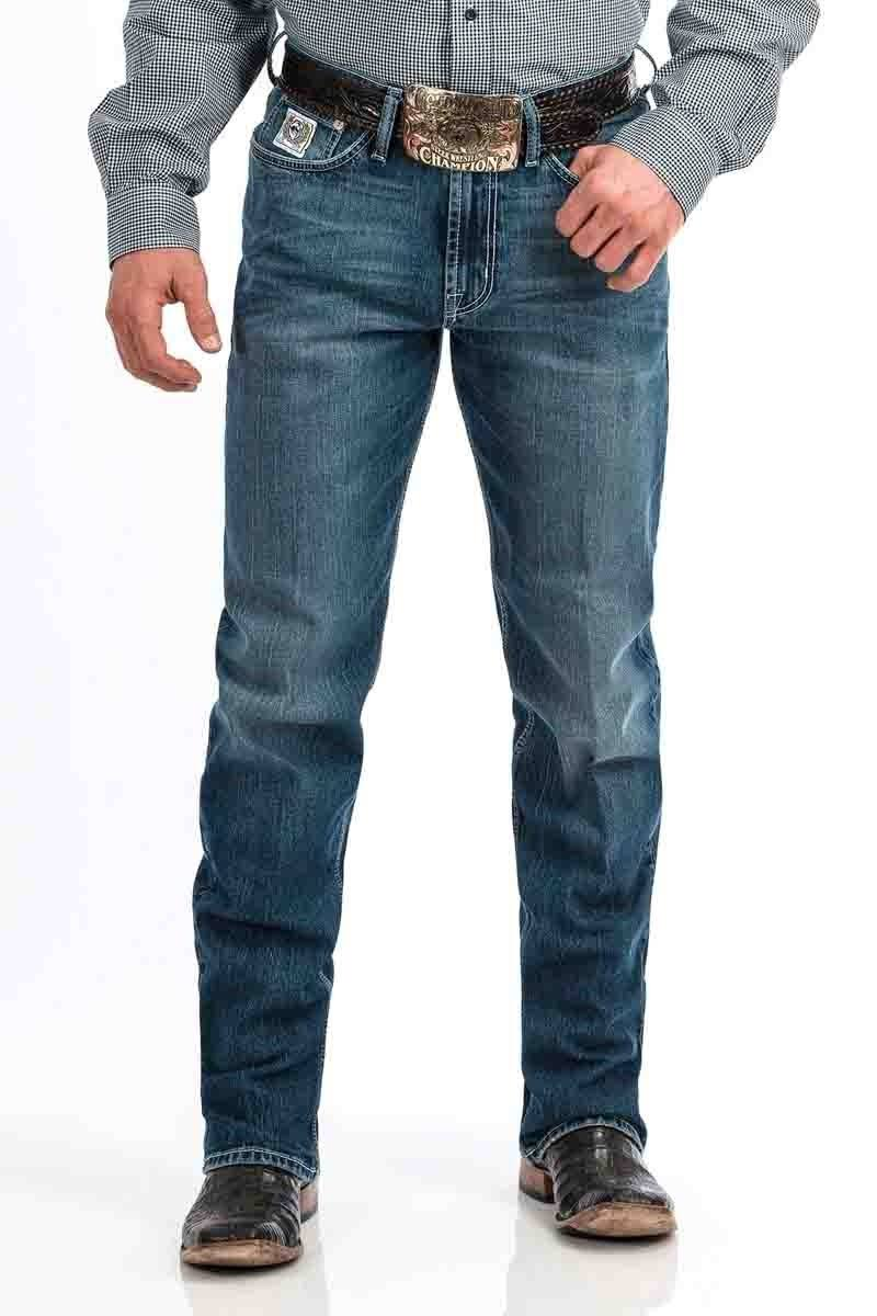 Cinch White Label Medium Stone (Indigo) Men's Jeans