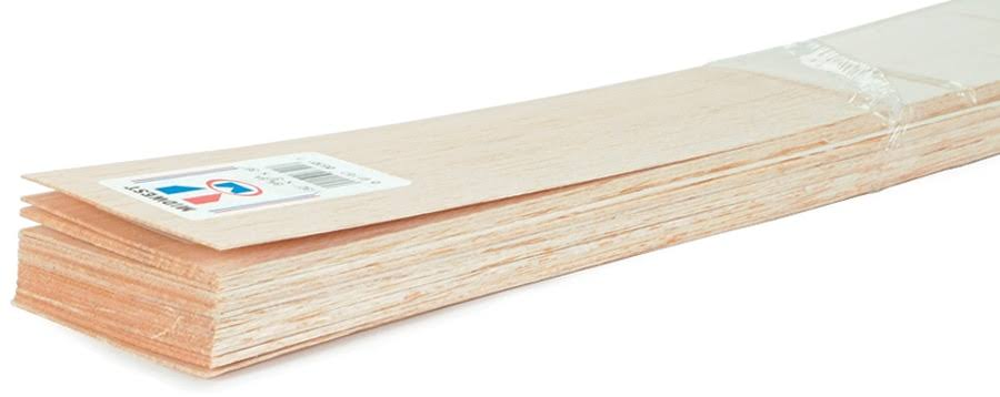 "Midwest Balsa - 3/16 x 1 x 36"", 10 Pieces"