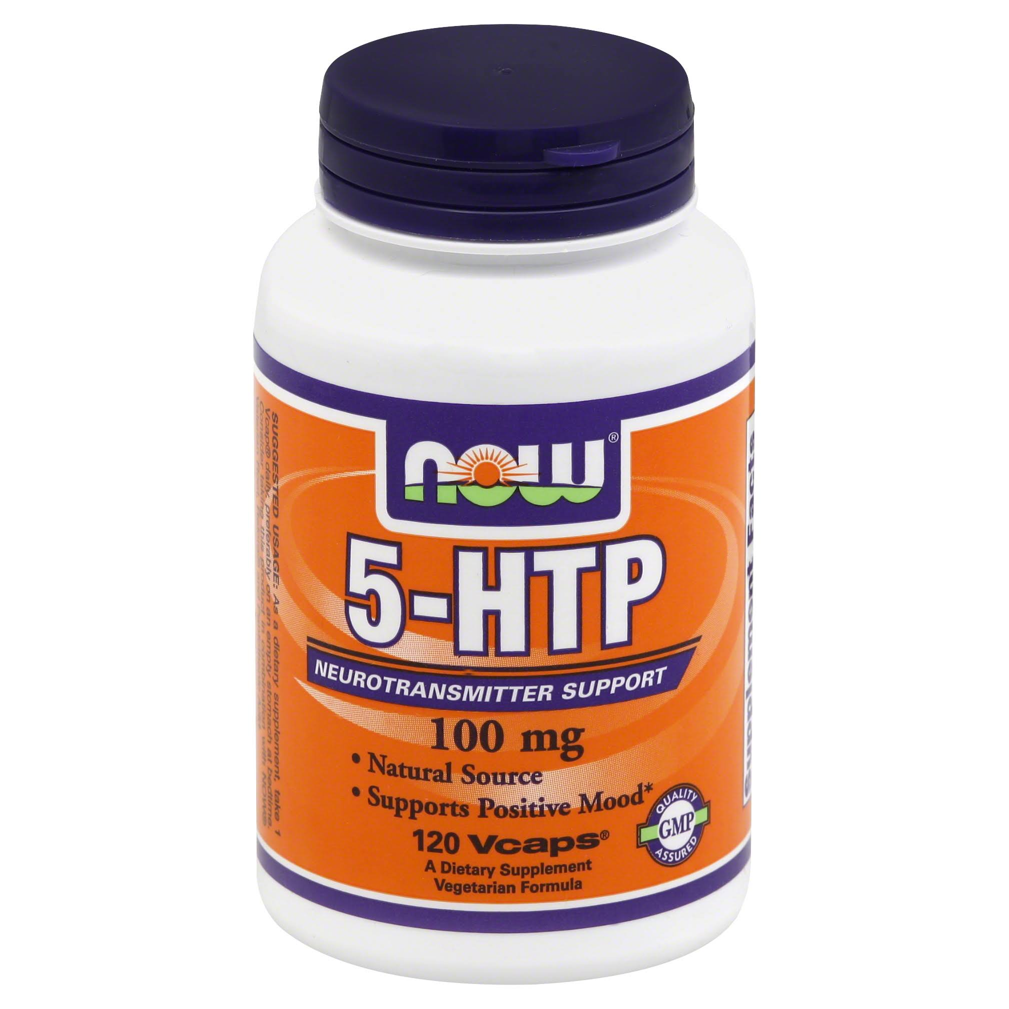 Now 5-HTP, 100 mg, Vcaps - 120 vcaps