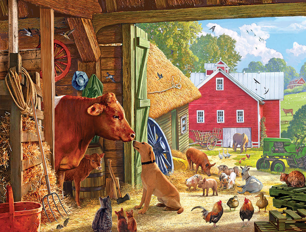 White Mountain Puzzles Barnyard Buddies Jigsaw Puzzle - 550 Piece