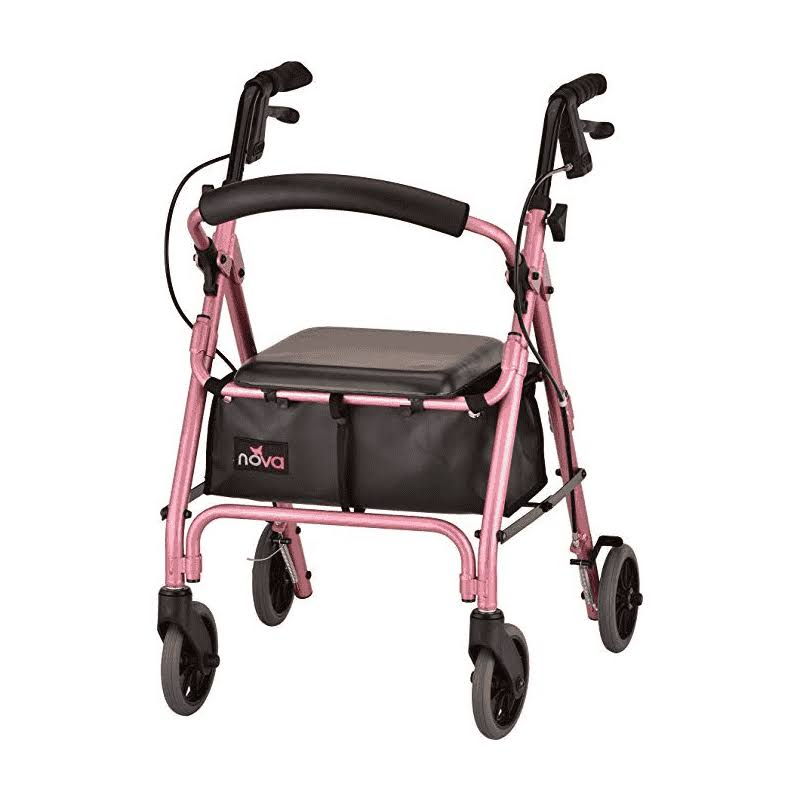Nova Medical Products Getgo Petite Rolling Walker - Pink
