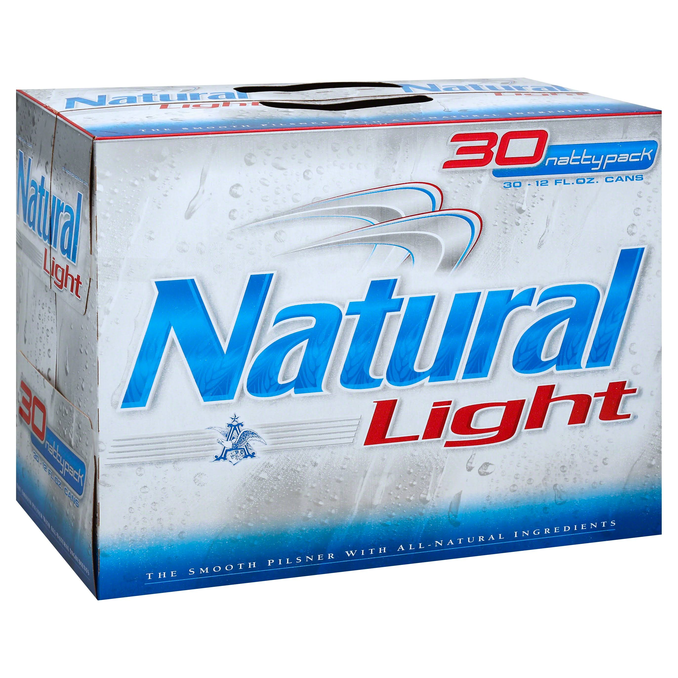 Natural Light Beer, Pilsner, Natty Pack - 30 pack, 12 fl oz cans