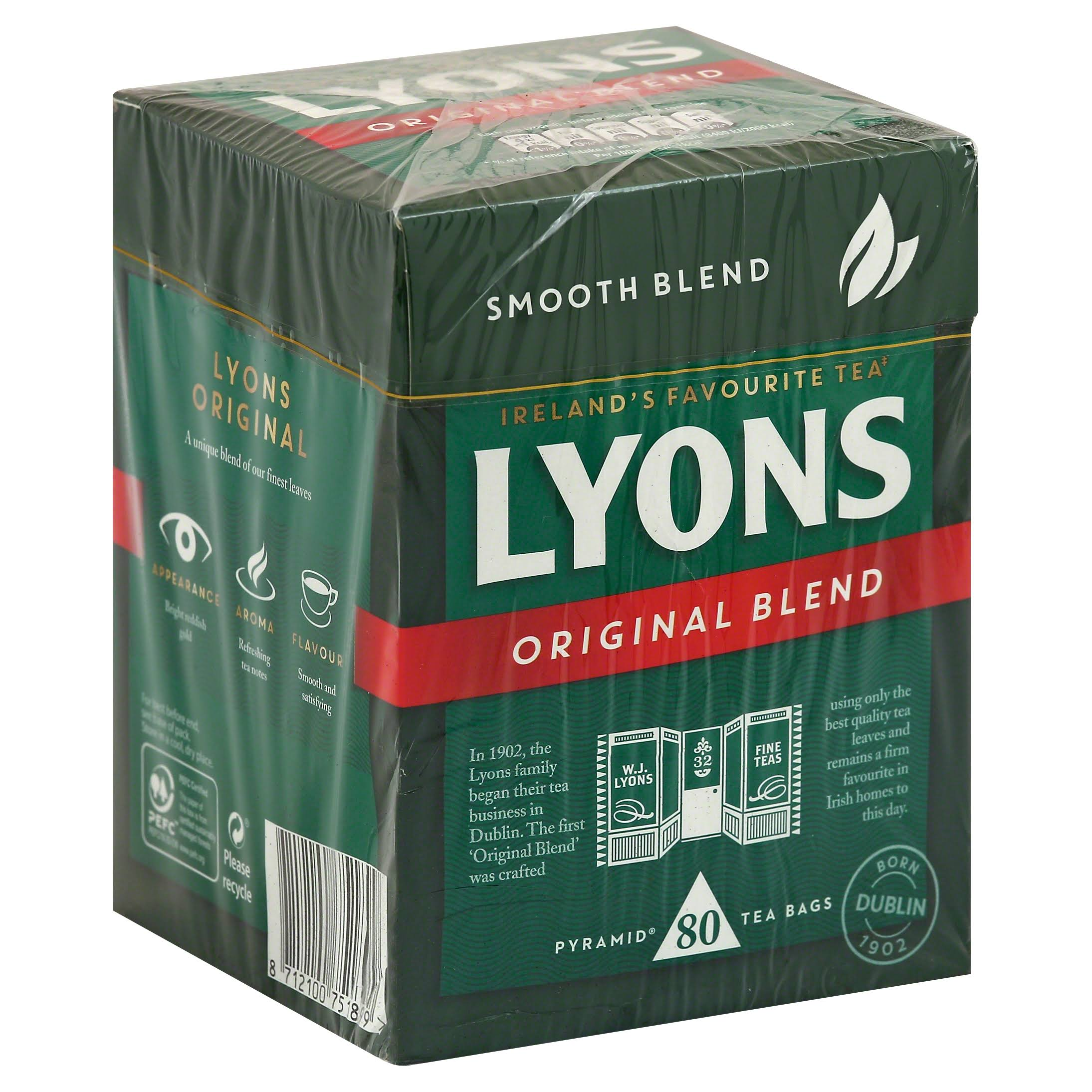 Lyons Tea Original Tea Bags - 232g, 80ct