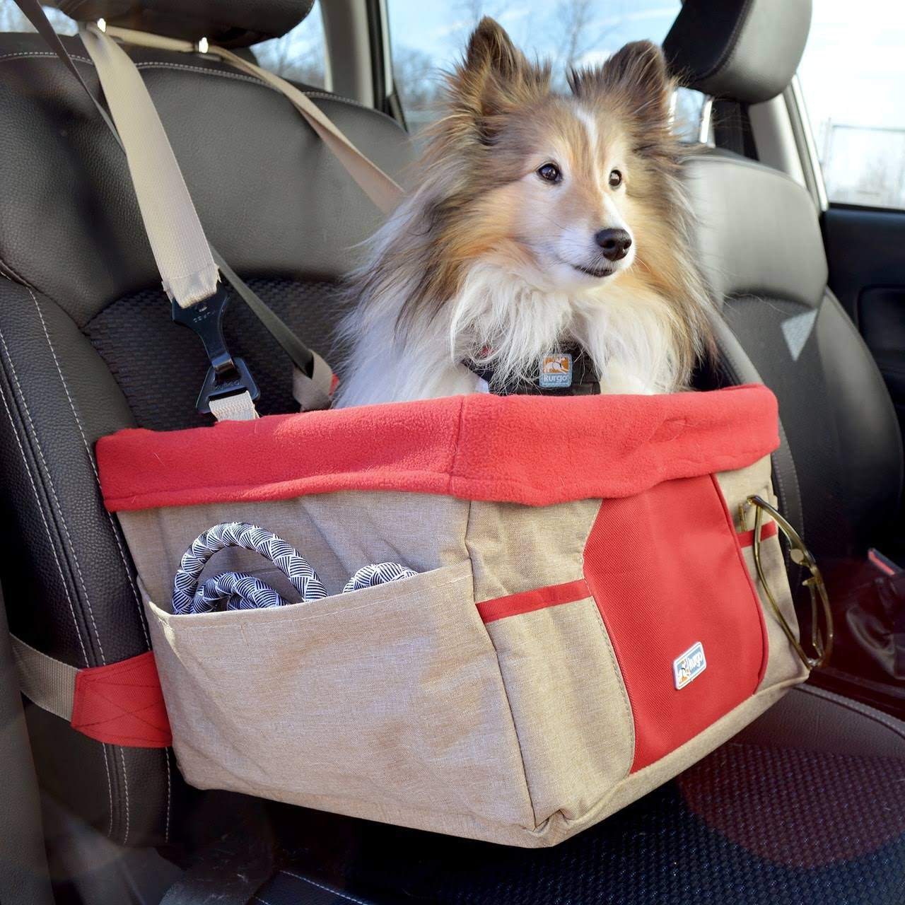Kurgo Dog Booster Seat Heather