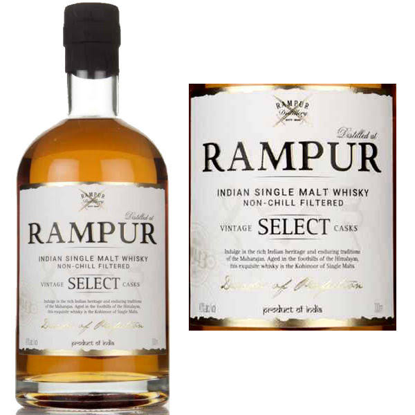 Rampur Indian Select Casks Single Malt Whisky 750ml