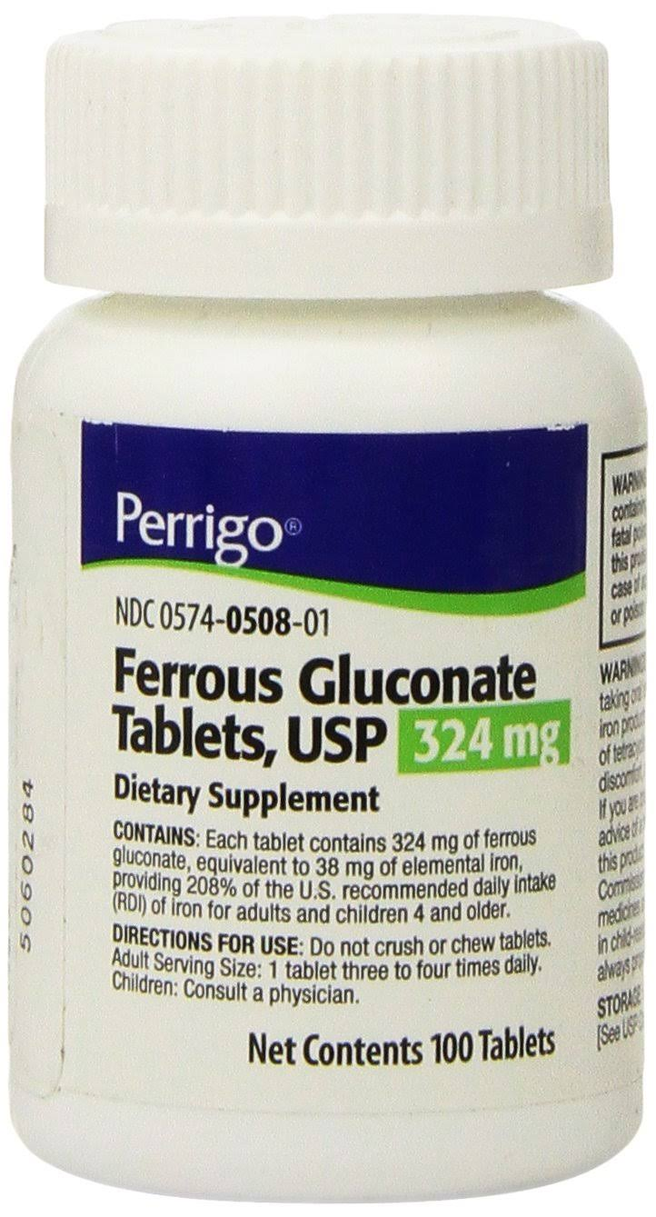 Perrigo Ferrous Gluconate Tablets Dietary Supplement