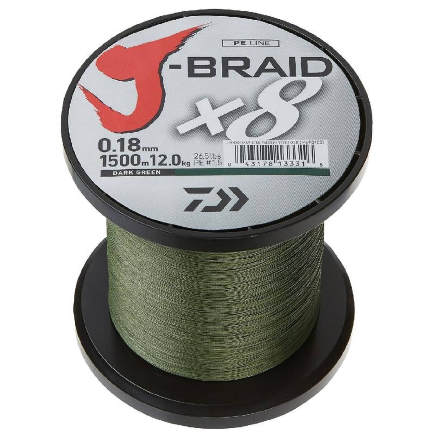 Daiwa J-Braid X4 3000 Yard Spool - Dark Green 10lb