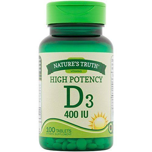 Nature's Truth Vitamin D3 400 IU Dietary Supplement - 100ct