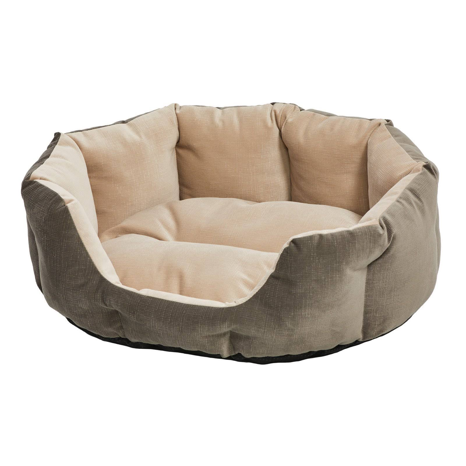Midwest Homes Deluxe Tulip Nesting Pet Bed - Gray/Tan, Small