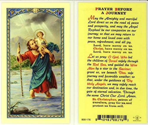 Stealstreet SS-Wjh-E24-623 Saint Christopher Prayer Before A Journey