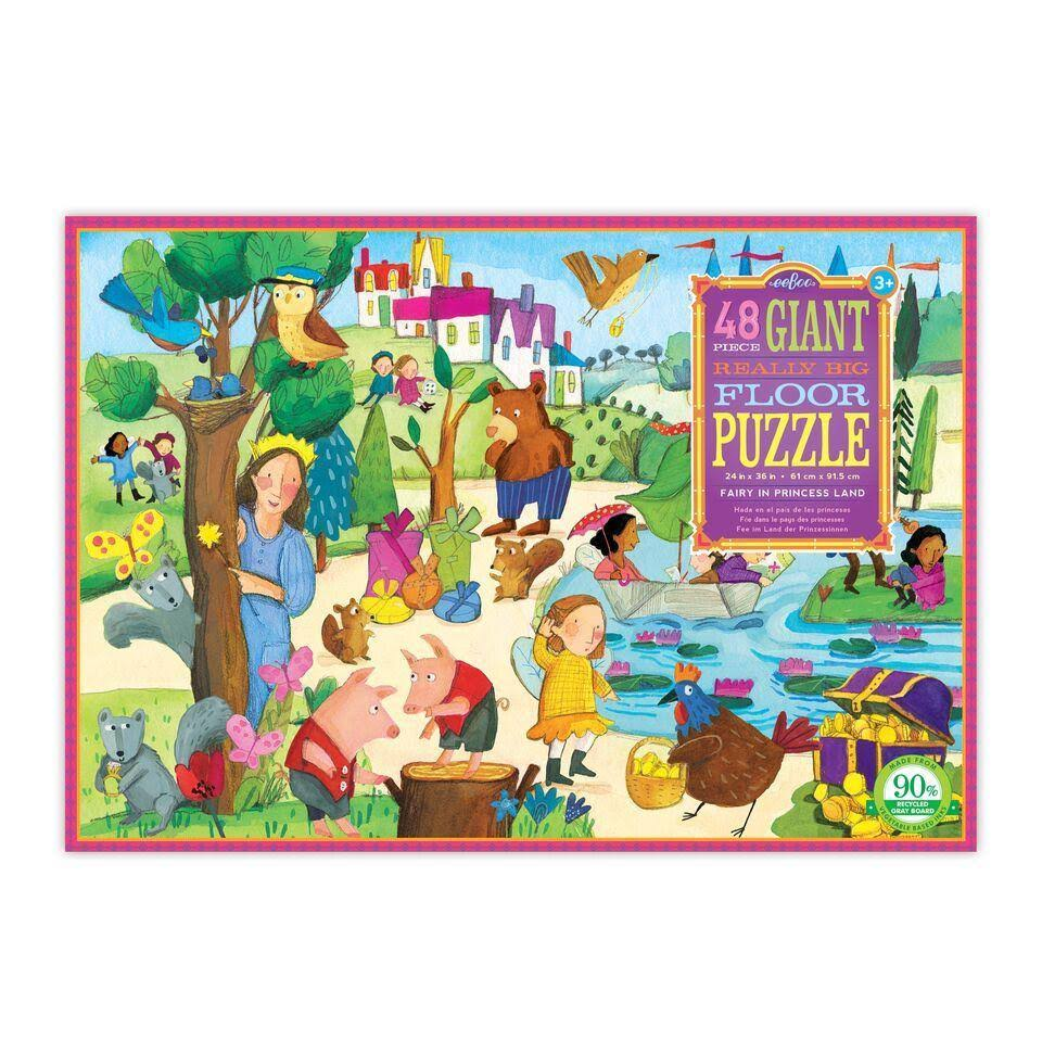 eeBoo 48 PC Giant Floor Puzzle Fairy in Princess Land