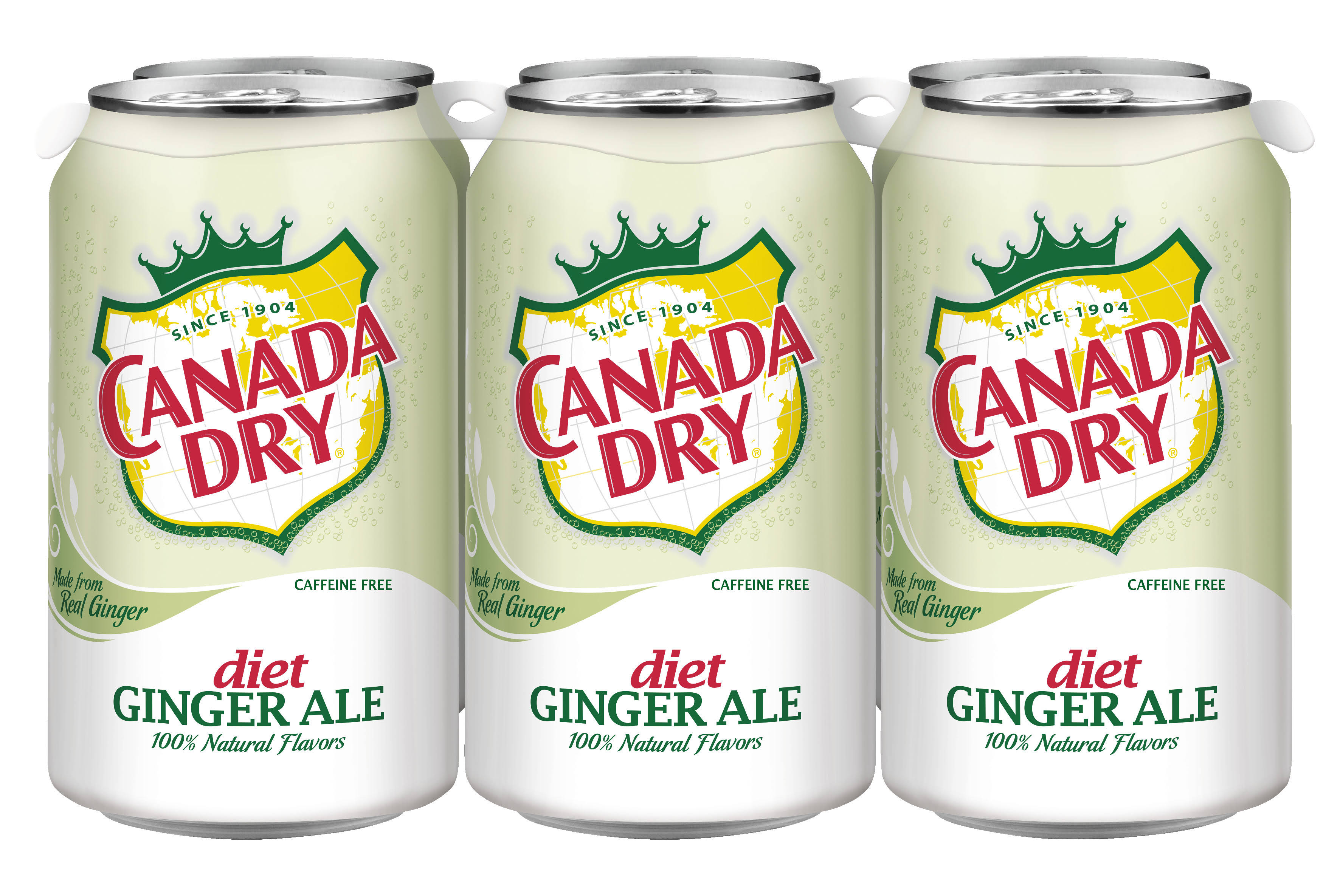 Canada Dry Ginger Ale, Diet - 6 pack, 12 fl oz