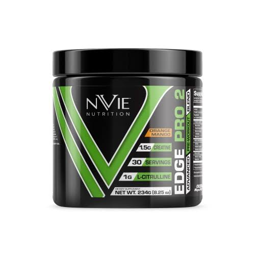 (Mango Orange) - Nvie Nutrition Edge Pre Workout (Mango Orange)