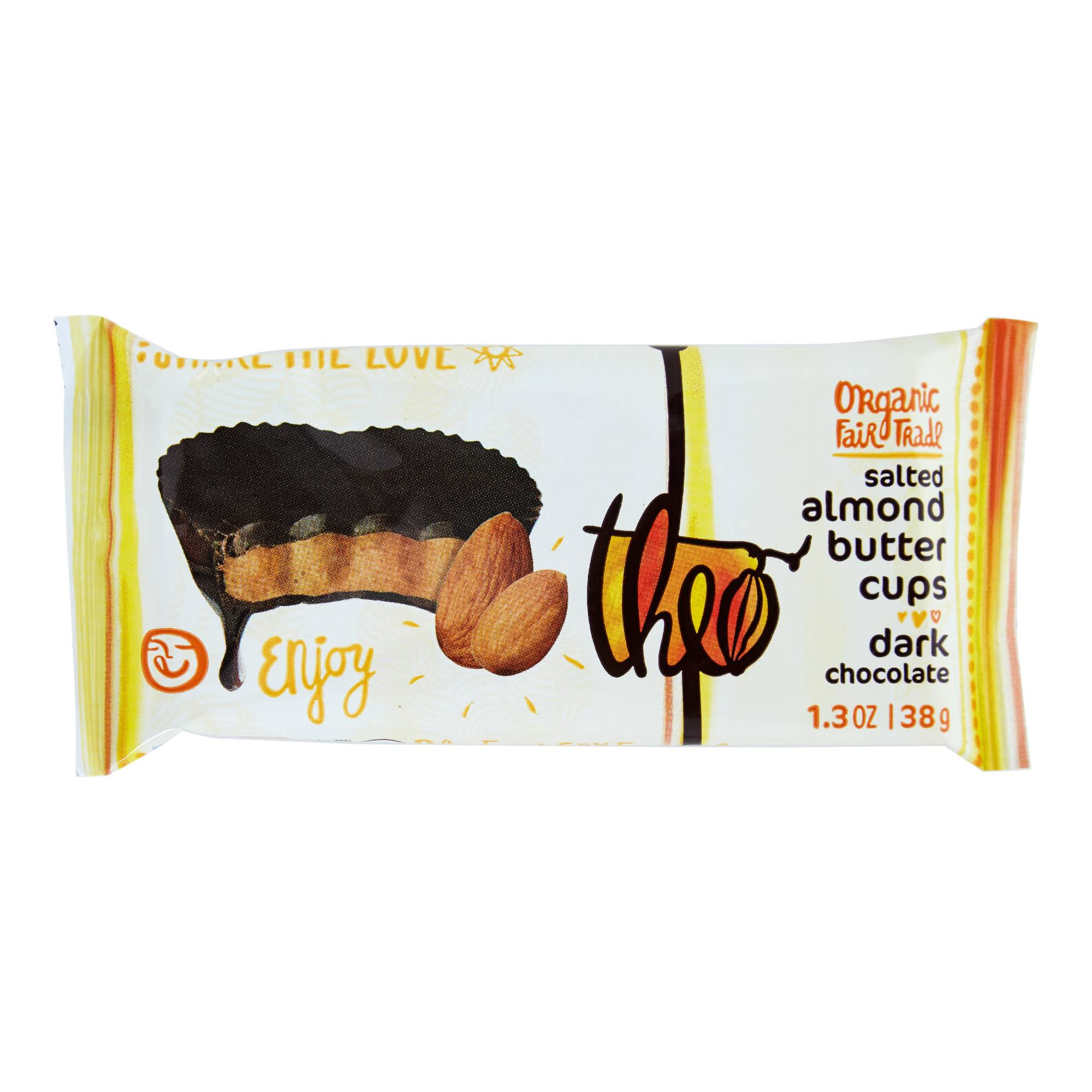 Theo Chocolate Salted Almond Butter Cups - Dark Chocolate, 38g