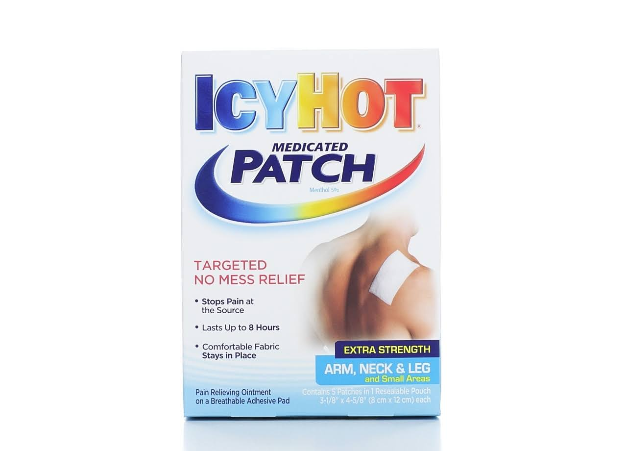 Icy Hot Extra Strength Medicated Patch - Small, 5pk