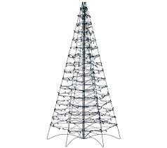 Bethlehem Lights Christmas Trees Qvc by Pre Lit Led 5 U0027 Fold Flat Outdoor Christmas Tree By Lori Greiner