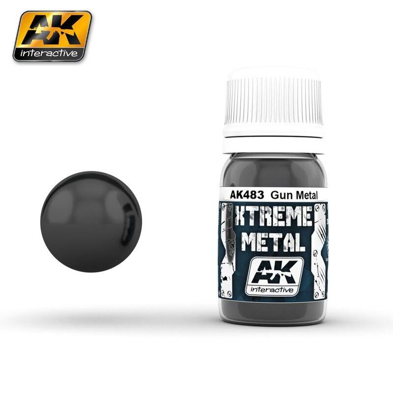 AK Interactive 30ml Xtreme Metal Paints - Gun Metal 00483