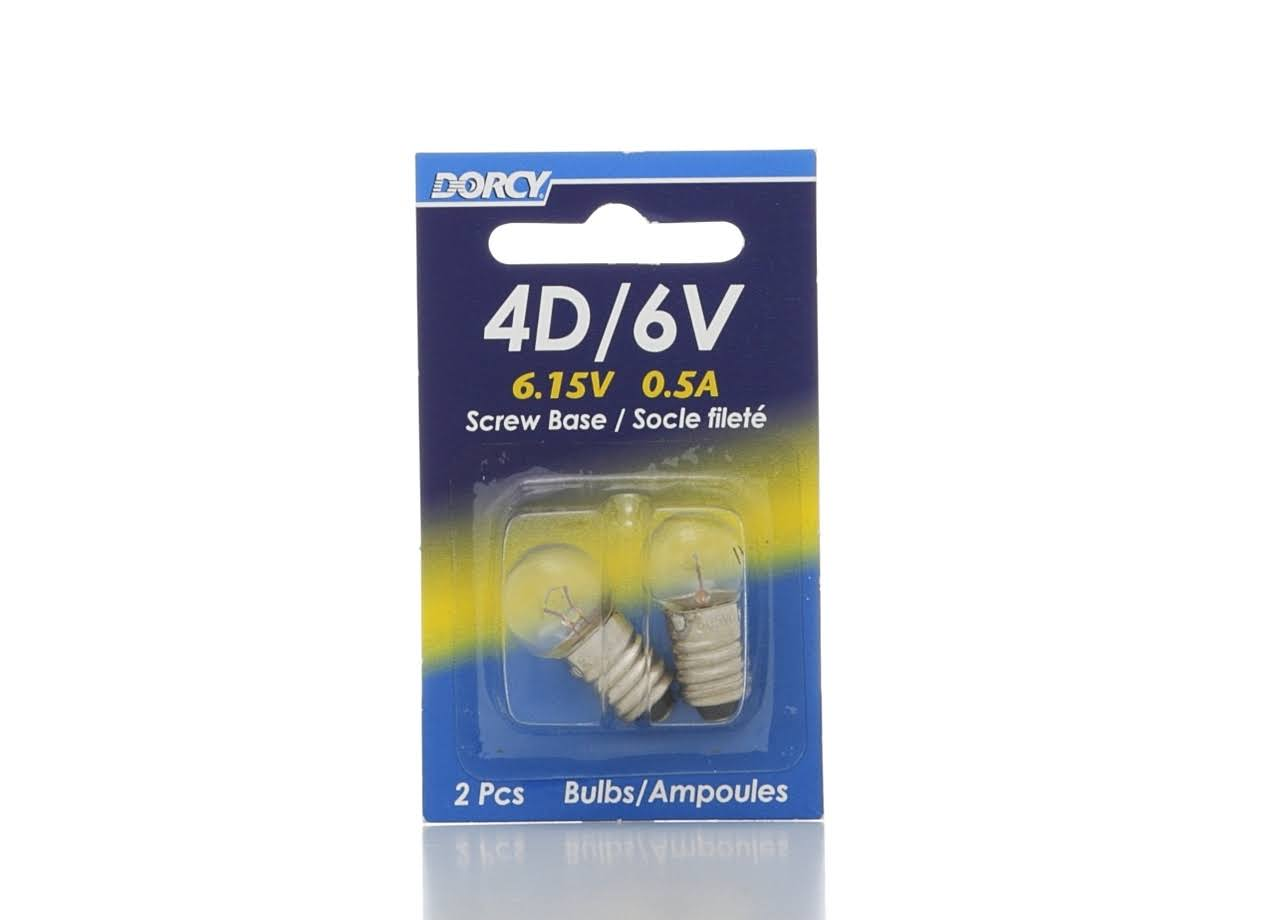 Dorcy Krypton Screw Base Replacement Bulb - 6.15V, 2pk