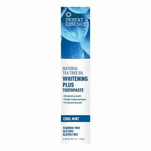 Desert Essence Whitening Plus Toothpaste - Tea Tree Oil, Cool Mint