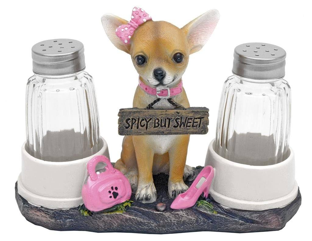 Haute and Spicy Girl Chihuahua Salt and Pepper Shakers Set