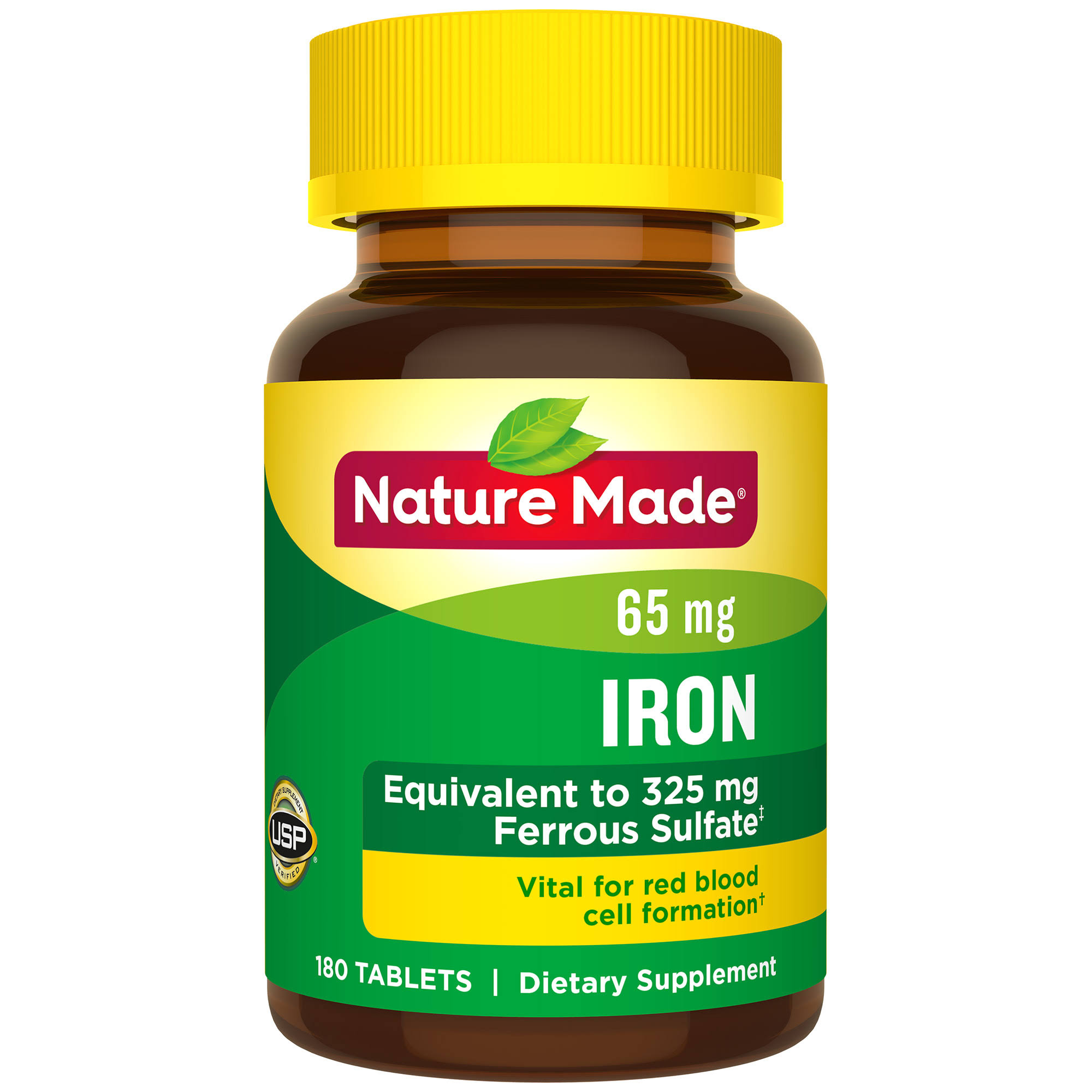 Nature Made Iron Supplement - 65mg, 180 Tablets