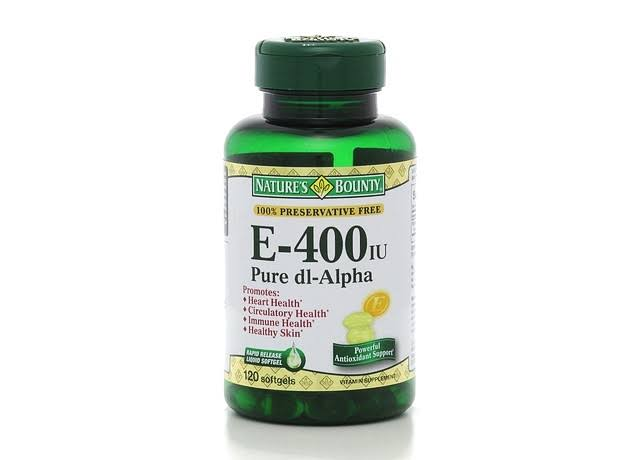 Nature's Bounty E Pure dl Alpha Rapid Release Softgels Dietary Supplement - 400IU, 120 Pack