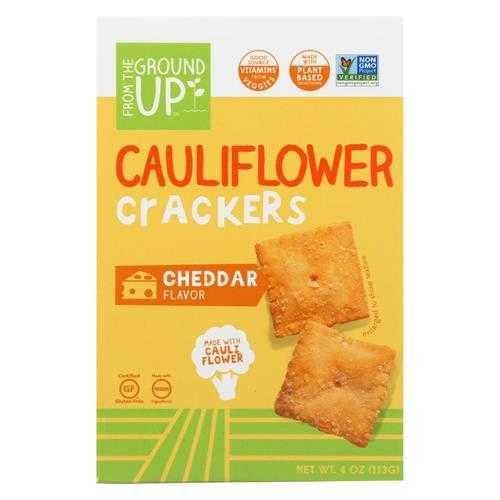 From the Ground Up Crackers, Cauliflower, Cheddar Flavor - 4 oz