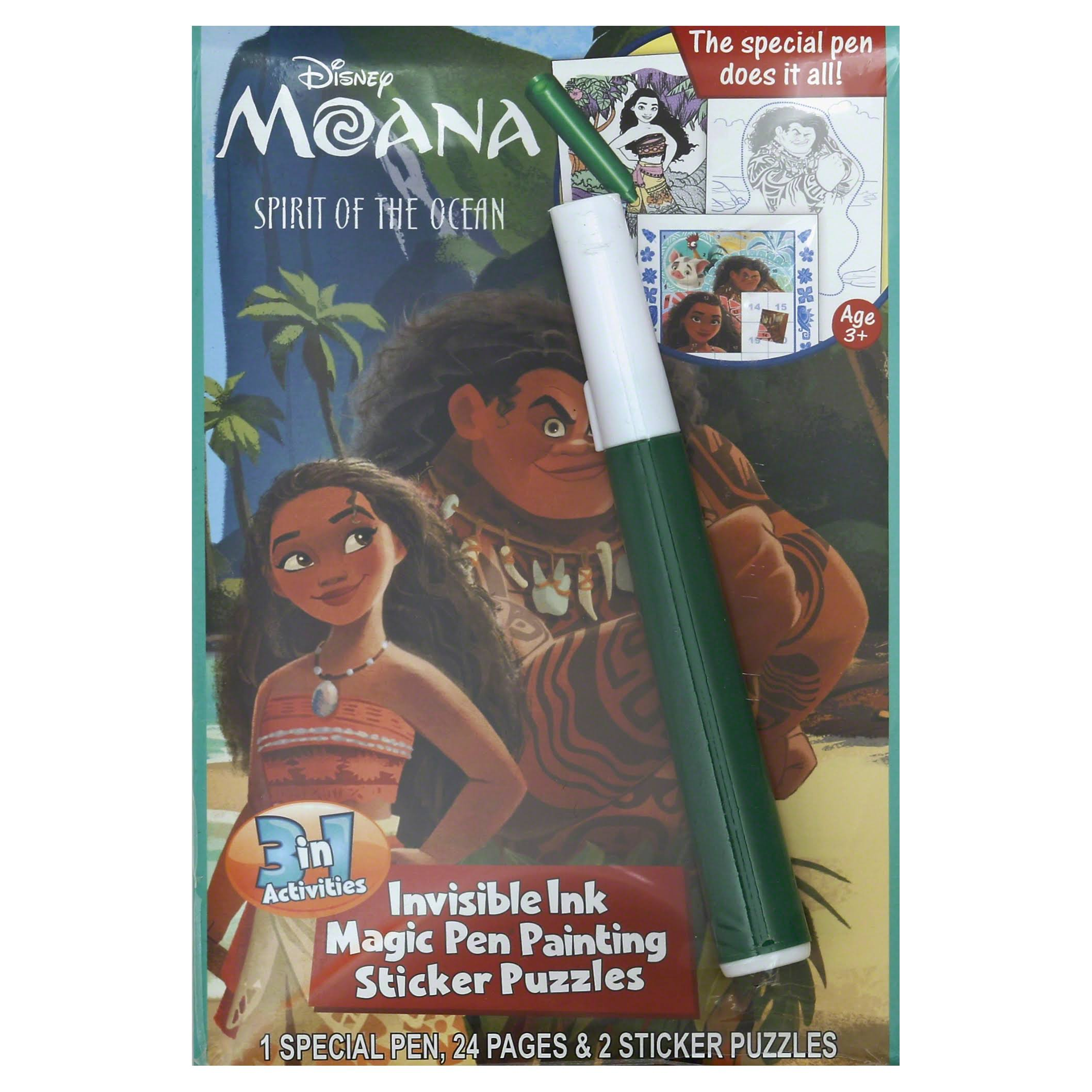 Lee Publications 3 In 1 Activities, Disney Moana, Spirit of the Ocean, Ages 3+