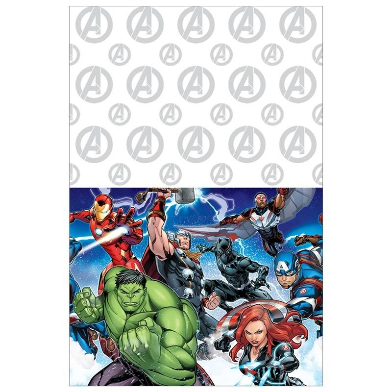 American Greetings Boys Plastic Table Cover - Avengers Epic