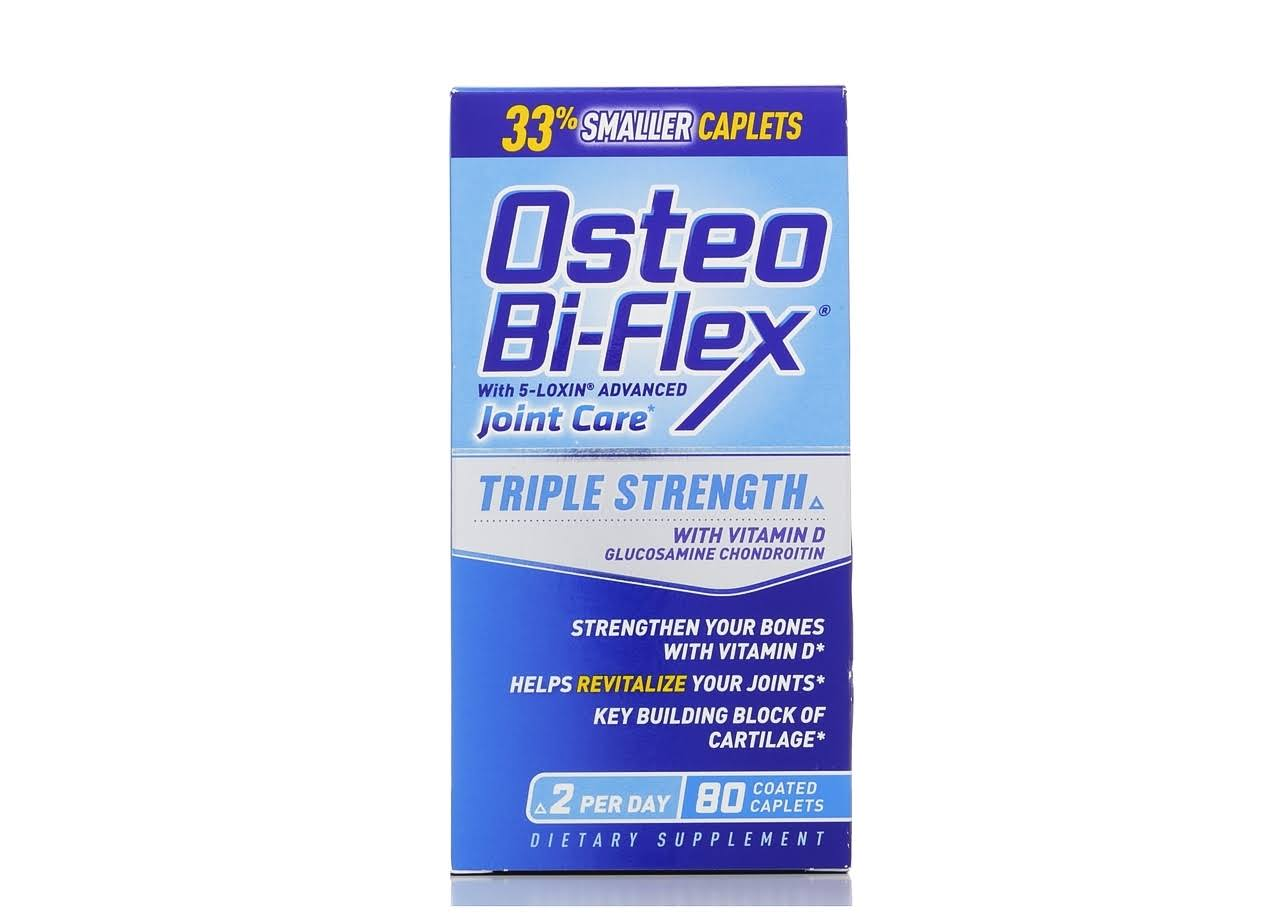 Osteo Bi-Flex Glucosamine Chondroitin with Joint Shield Supplement - 80 Coated Tablets