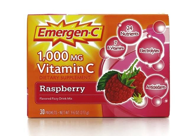 Emergen-C Vitamin C Dietary Supplement - 1000mg, Raspberry