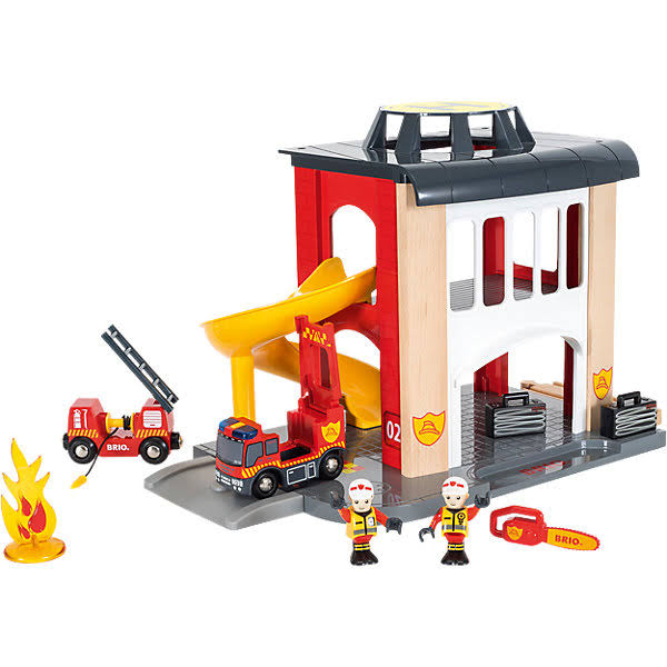 BRIO Central Fire Station Toy Set