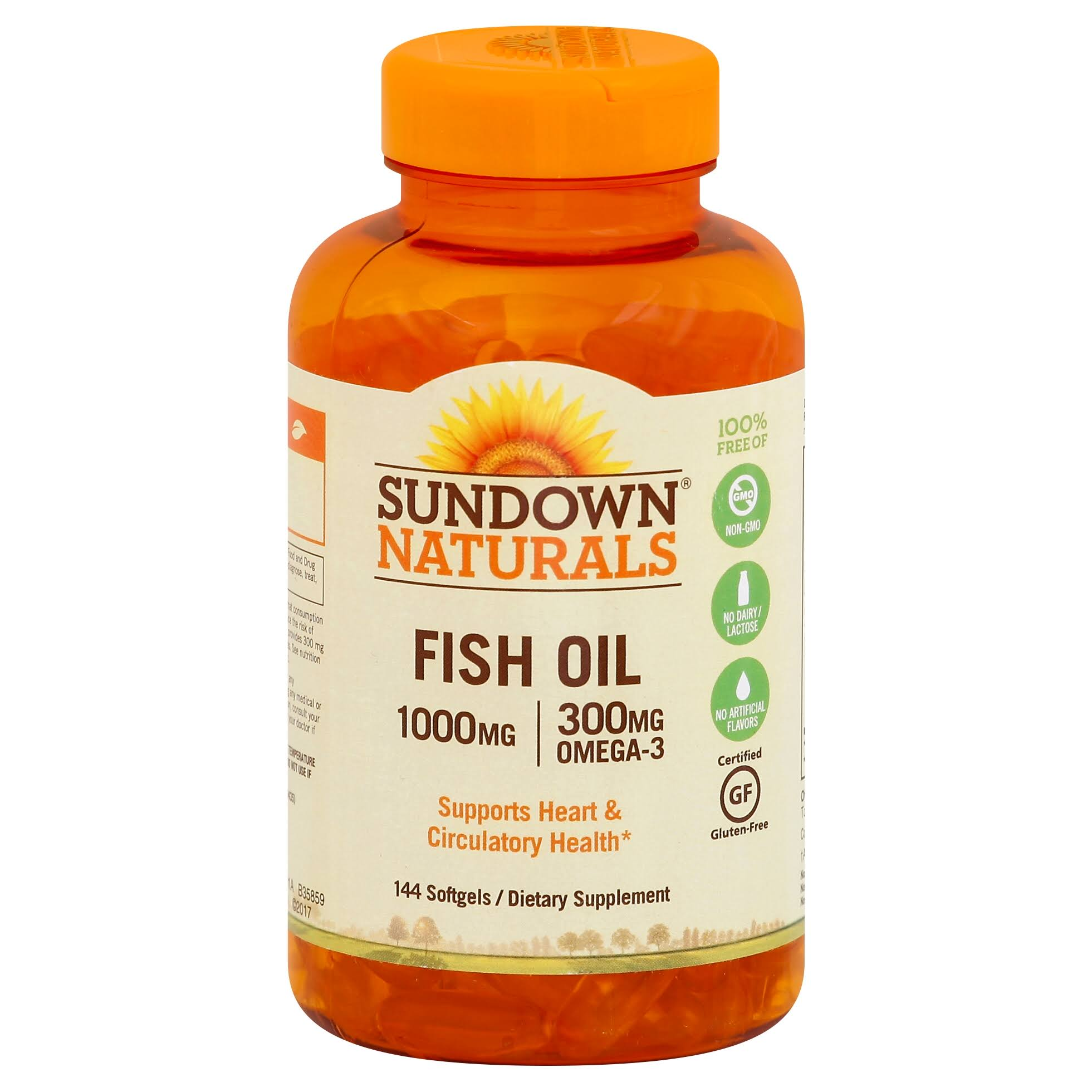 Sundown Naturals Fish Oil - 1000mg, 144 Softgels