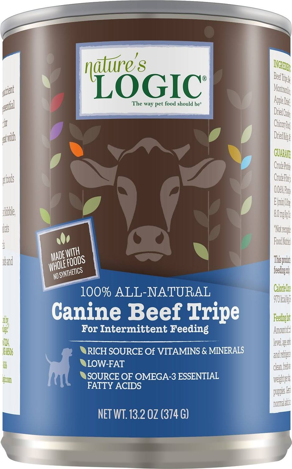 Nature's Logic Canine Beef Tripe Canned Dog Food