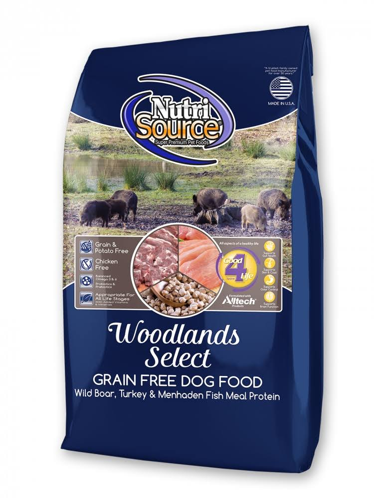 Nutrisource Woodlands Select Dry Dog Food - Boar & Turkey, 30lbs