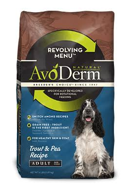 AvoDerm Natural Revolving Menu Adult Dog Food - Trout and Pea Recipe, 4lbs