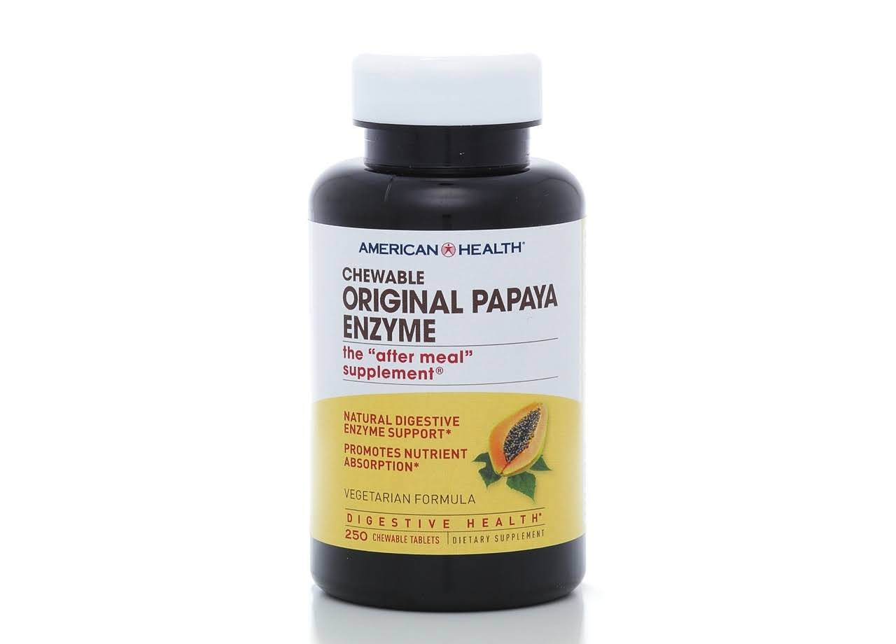 American Health Chewable Original Papaya Enzyme - 250 Tablets