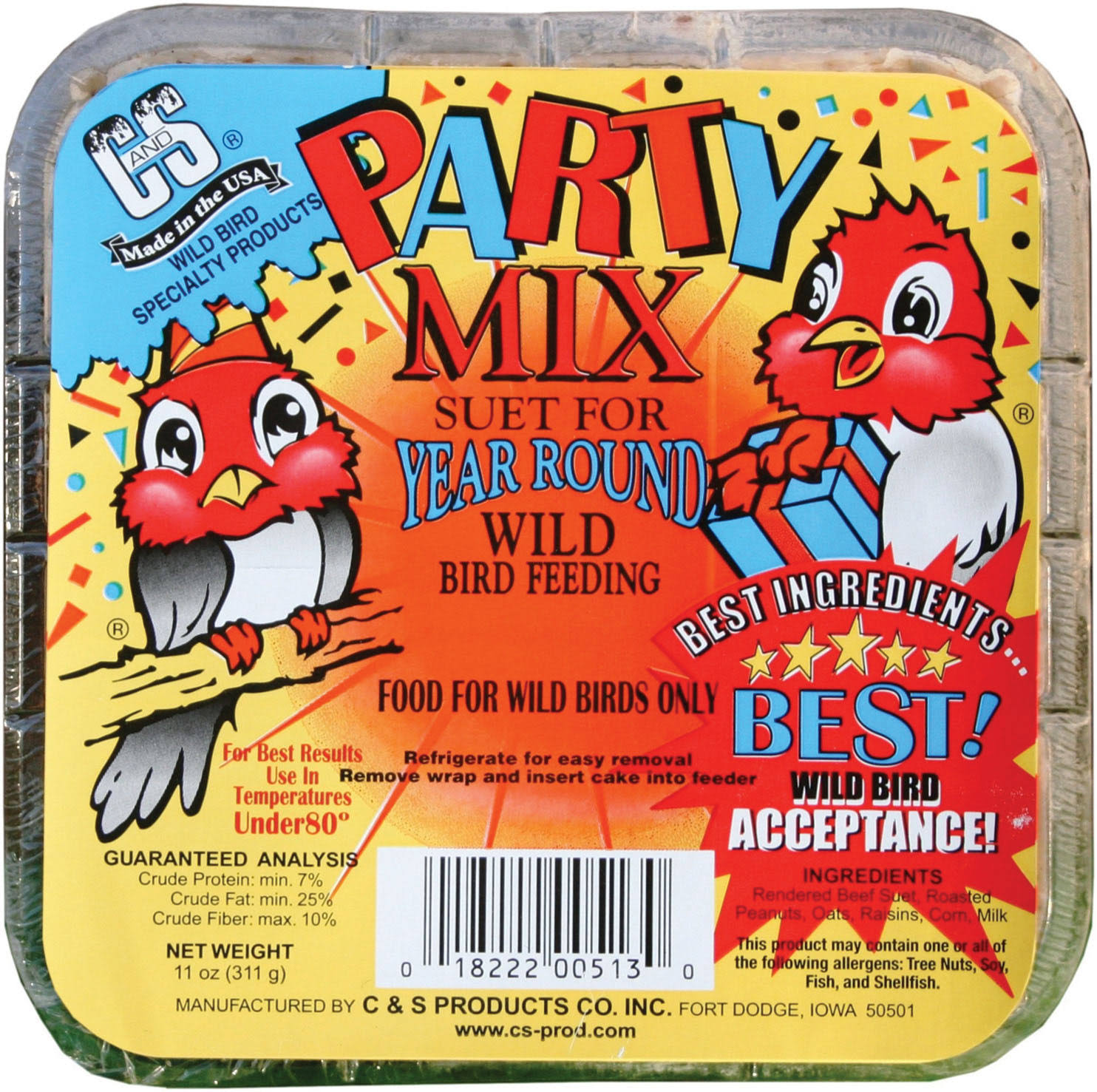 C&S Party Mix Suet - 11 oz