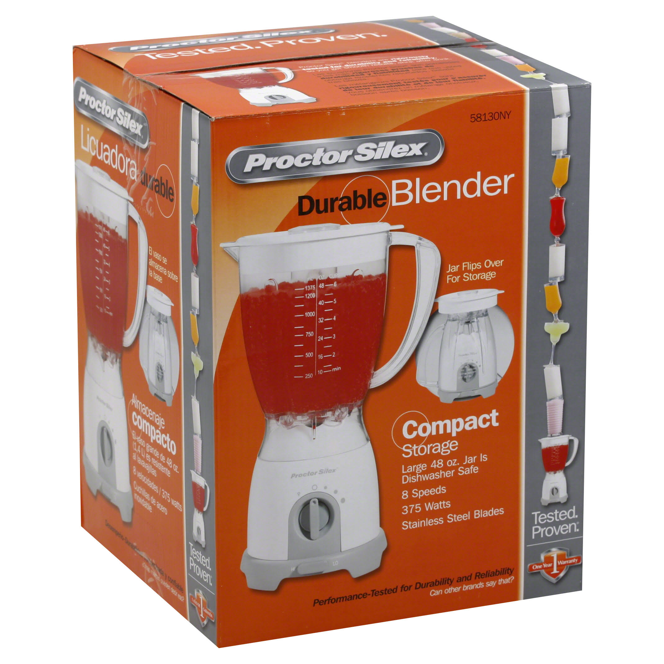 Proctor Silex Plus 58130PH Blender - White