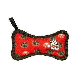 Tuffys Junior Bone Paws Print Dog Toy - Red