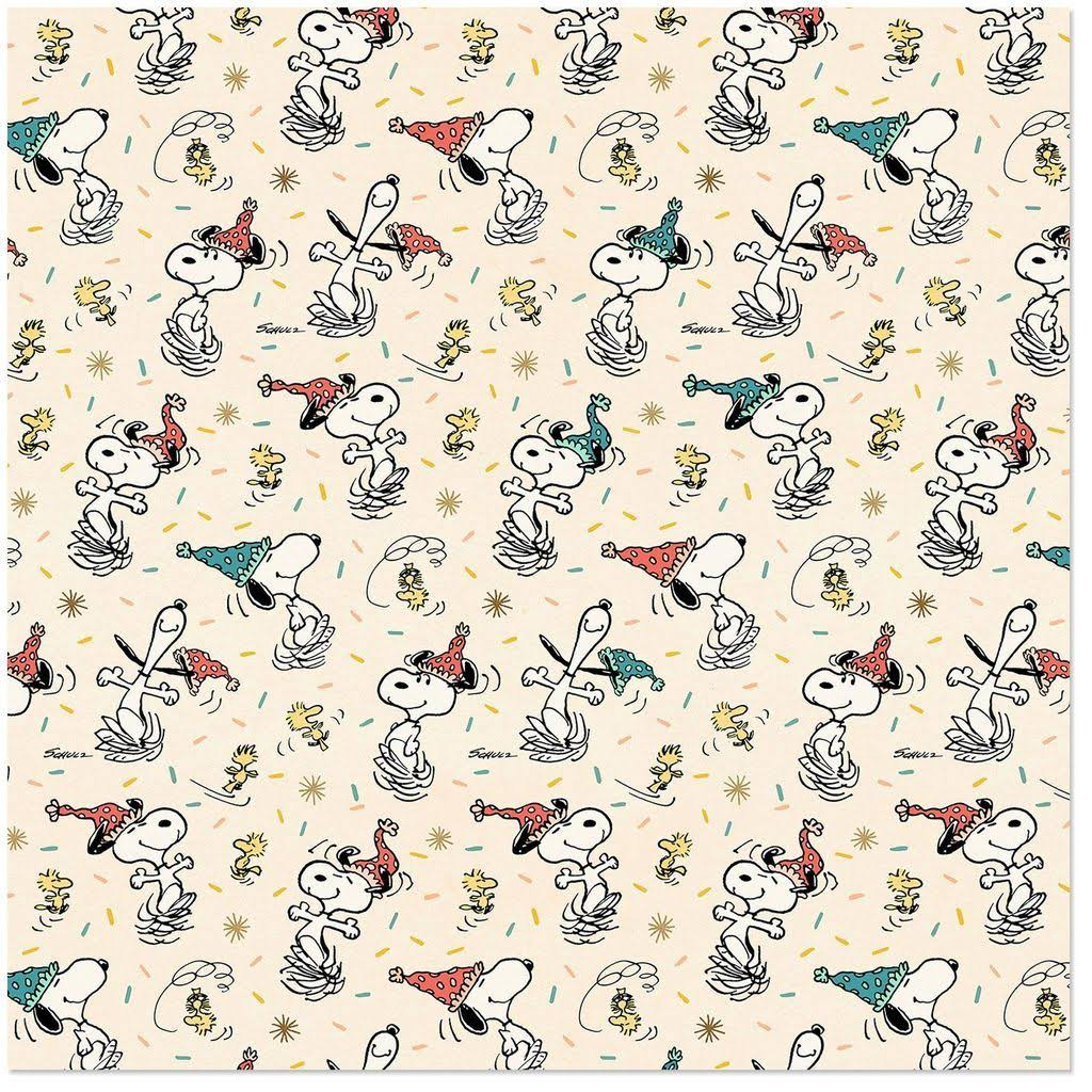 Peanuts Snoopy and Woodstock Wrapping Paper Roll, 25 Sq. ft.
