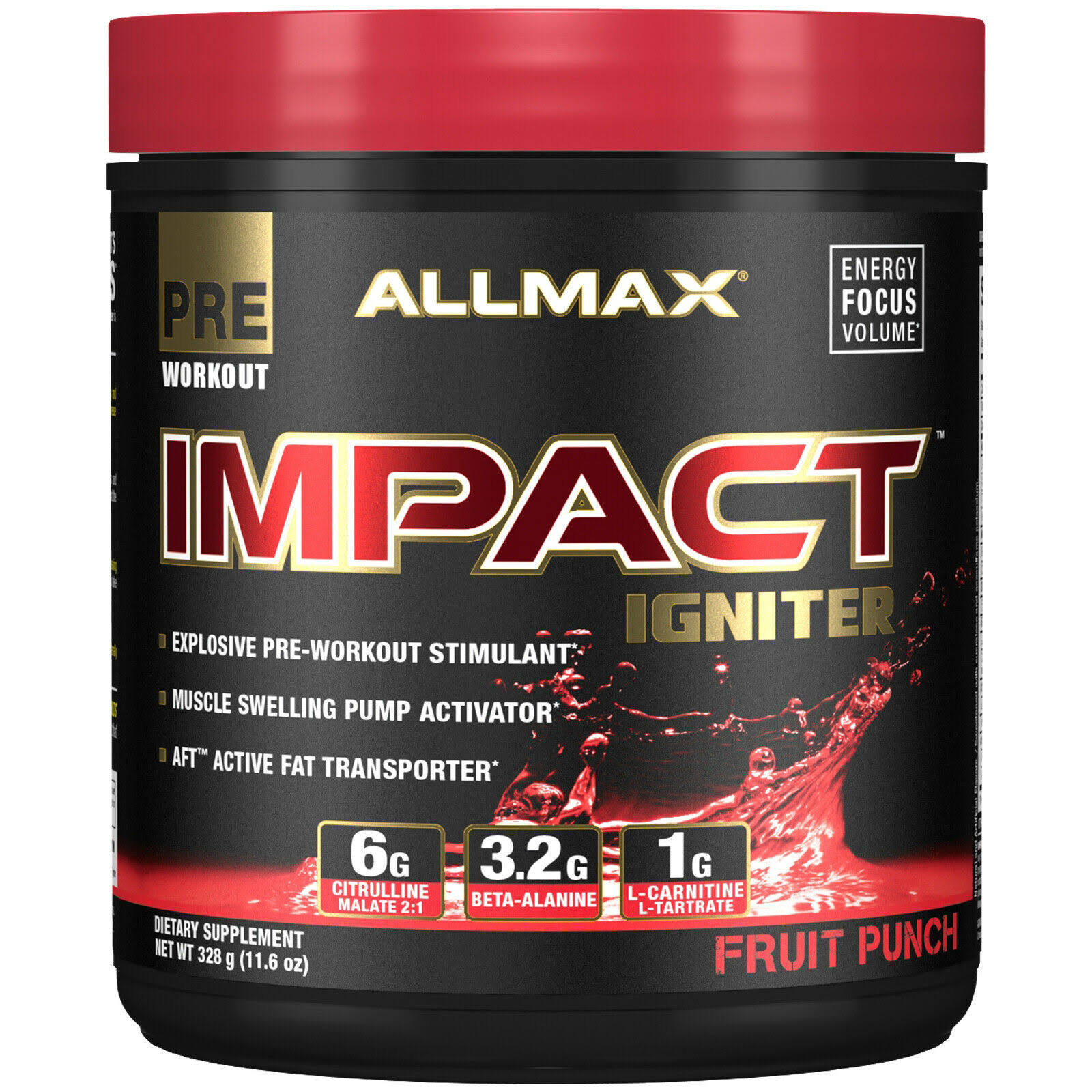 Allmax Nutrition Impact Igniter - Fruit Punch, 328g