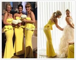 online get cheap 2015 yellow chiffon bridesmaid dresses